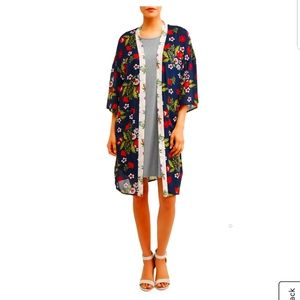 Time and Tru Floral Kimono NWT! Size Large